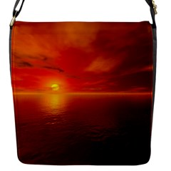 Sunset Flap closure messenger bag (Small)