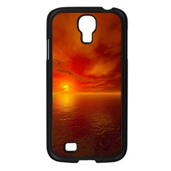 Sunset Samsung Galaxy S4 I9500/ I9505 Case (Black)