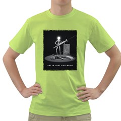 art is just like music Mens  T-shirt (Green)