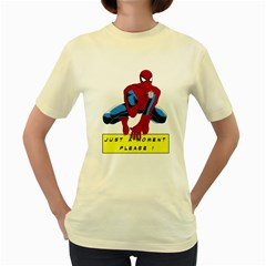 just a moment  Womens  T-shirt (Yellow)