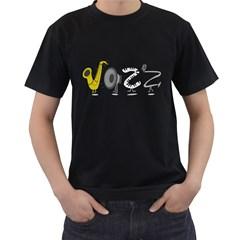 J A Z Z Mens' T Shirt (black)