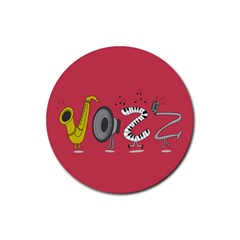 Jazz Drink Coasters 4 Pack (Round)