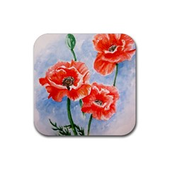 Poppies Drink Coasters 4 Pack (square)