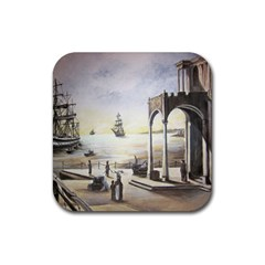 Waiting At The Docks Drink Coasters 4 Pack (square)