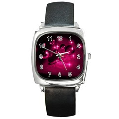 Sweet Dreams  Square Leather Watch