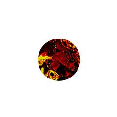 Fire 1  Mini Button Magnet