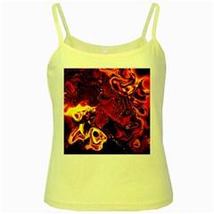 Fire Yellow Spaghetti Tank