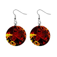 Fire Mini Button Earrings