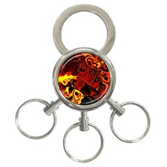 Fire 3-Ring Key Chain