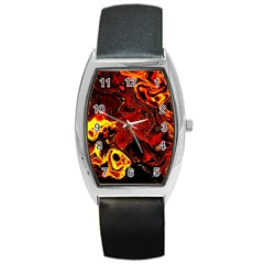 Fire Tonneau Leather Watch