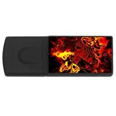 Fire 4GB USB Flash Drive (Rectangle)