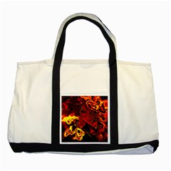 Fire Two Toned Tote Bag