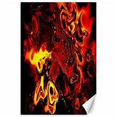 Fire Canvas 24  X 36  (unframed)