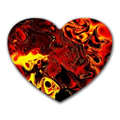 Fire Mouse Pad (heart)