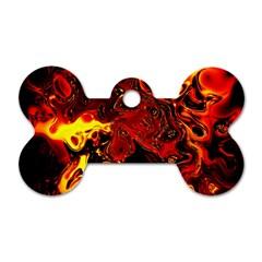 Fire Dog Tag Bone (One Sided)