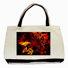 Fire Twin Sided Black Tote Bag