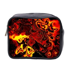 Fire Mini Travel Toiletry Bag (two Sides)