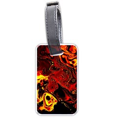 Fire Luggage Tag (One Side)