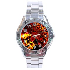 Fire Stainless Steel Watch (Men s)