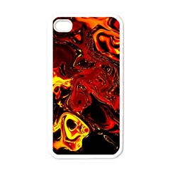 Fire Apple iPhone 4 Case (White)