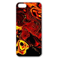 Fire Apple Seamless iPhone 5 Case (Clear)