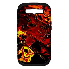 Fire Samsung Galaxy S III Hardshell Case (PC+Silicone)