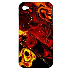 Fire Apple iPhone 4/4S Hardshell Case (PC+Silicone)
