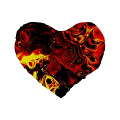 Fire 16  Premium Heart Shape Cushion