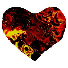 Fire 19  Premium Heart Shape Cushion