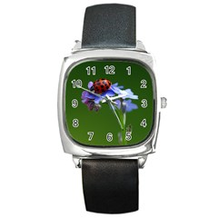 Good Luck Square Leather Watch