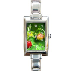 Strawberry  Rectangular Italian Charm Watch