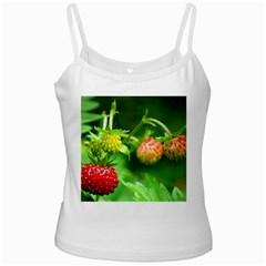 Strawberry  White Spaghetti Tank