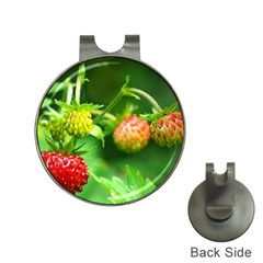 Strawberry  Hat Clip with Golf Ball Marker