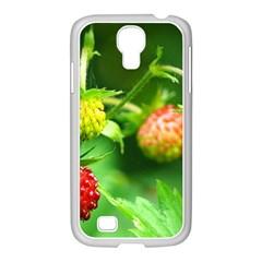 Strawberry  Samsung GALAXY S4 I9500/ I9505 Case (White)
