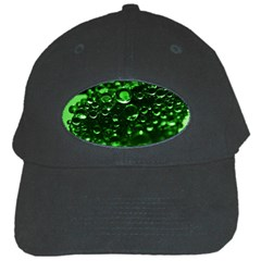 Waterdrops Black Baseball Cap