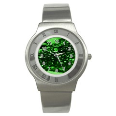 Waterdrops Stainless Steel Watch (Unisex)