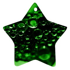 Waterdrops Star Ornament (two Sides)