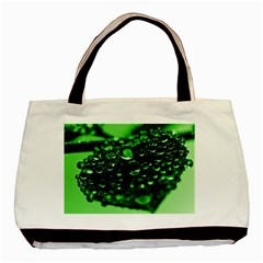 Waterdrops Twin-sided Black Tote Bag