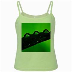 Waterdrops Green Spaghetti Tank