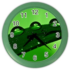Waterdrops Wall Clock (color)