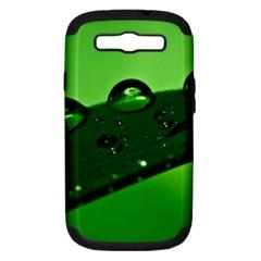 Waterdrops Samsung Galaxy S III Hardshell Case (PC+Silicone)