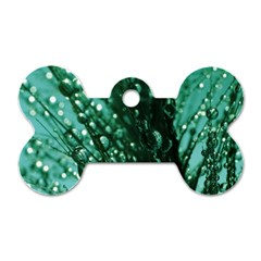 Waterdrops Dog Tag Bone (One Sided)