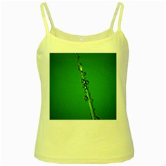 Waterdrops Yellow Spaghetti Tank