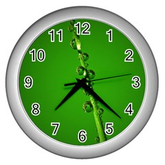 Waterdrops Wall Clock (Silver)