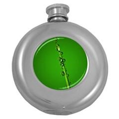 Waterdrops Hip Flask (Round)