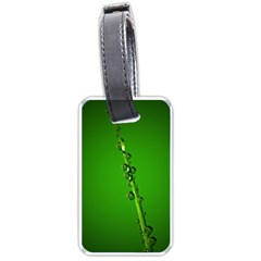 Waterdrops Luggage Tag (one Side)