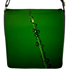 Waterdrops Flap closure messenger bag (Small)