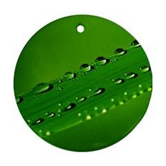 Waterdrops Round Ornament