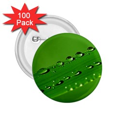Waterdrops 2 25  Button (100 Pack)