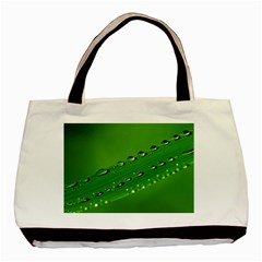 Waterdrops Twin Sided Black Tote Bag